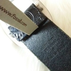 Fossil Accessories - Fossil | Black Perforated Belt